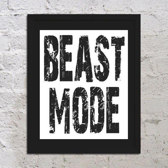 Beast Mode Motivational Inspirational Art Print Poster