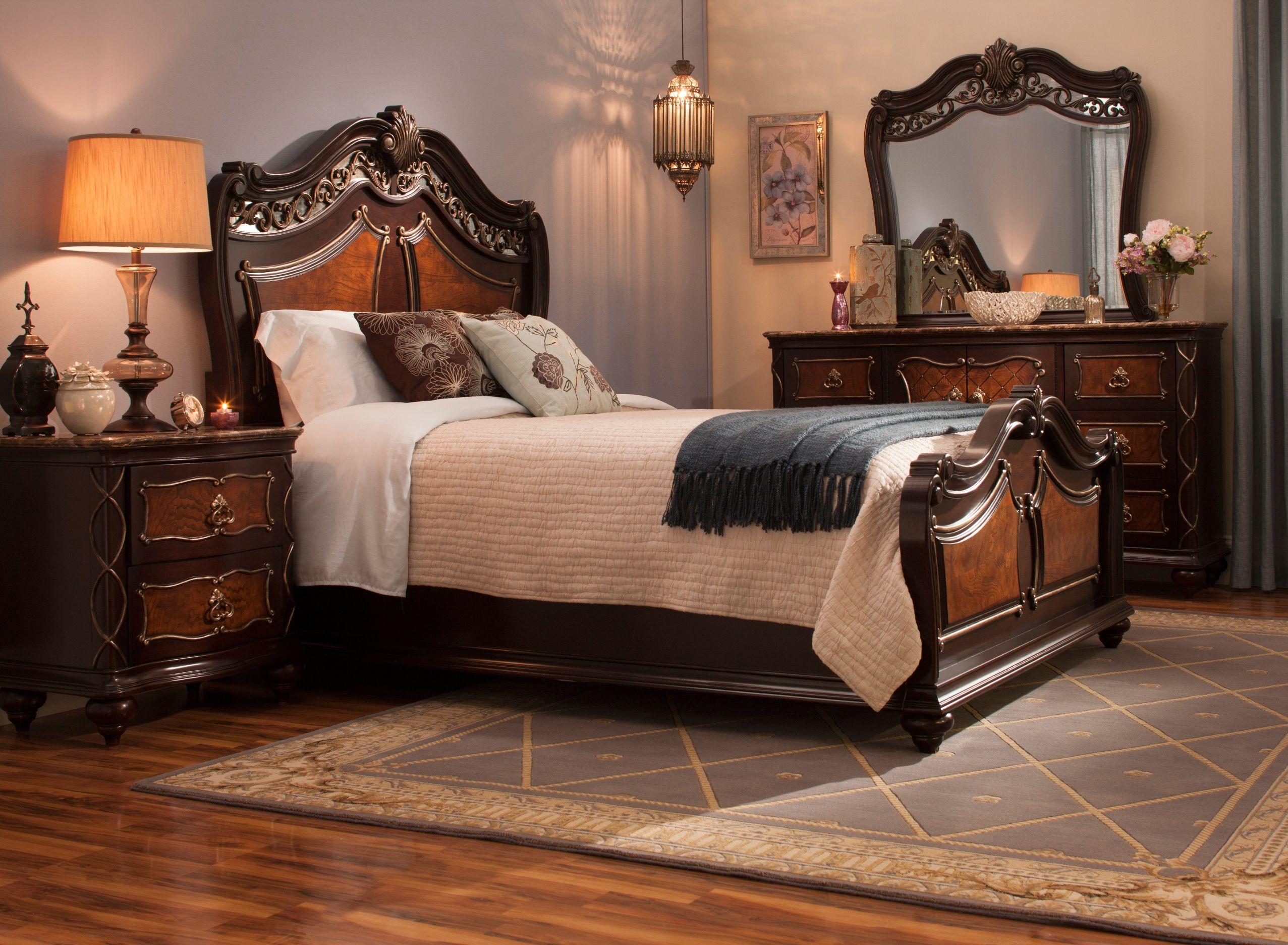 Palazzo 4pc. Queen Bedroom Set Bedroom sets, Luxurious