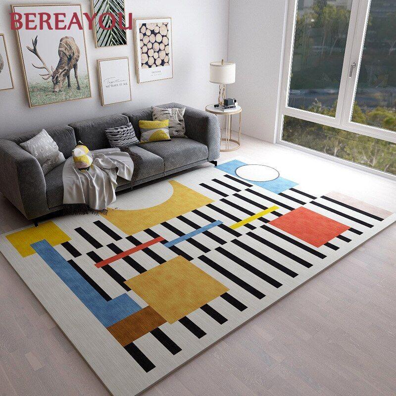 Nordic Rugs Geometric Living Room Carpet Area Floor Mat Non Slip