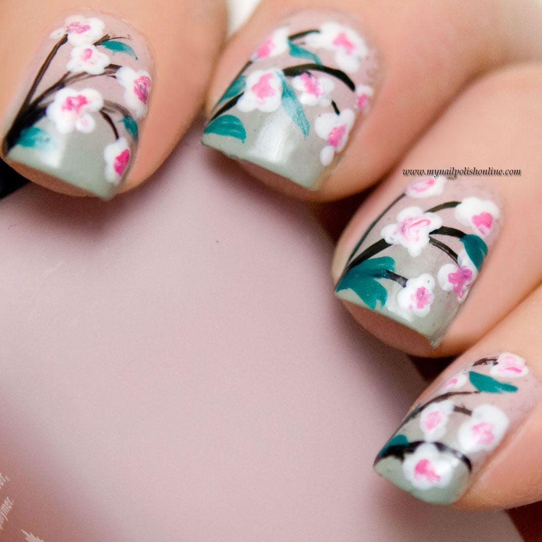 Nail Art - Flowers | Nail art flowers, Nail polish online and Nail ...
