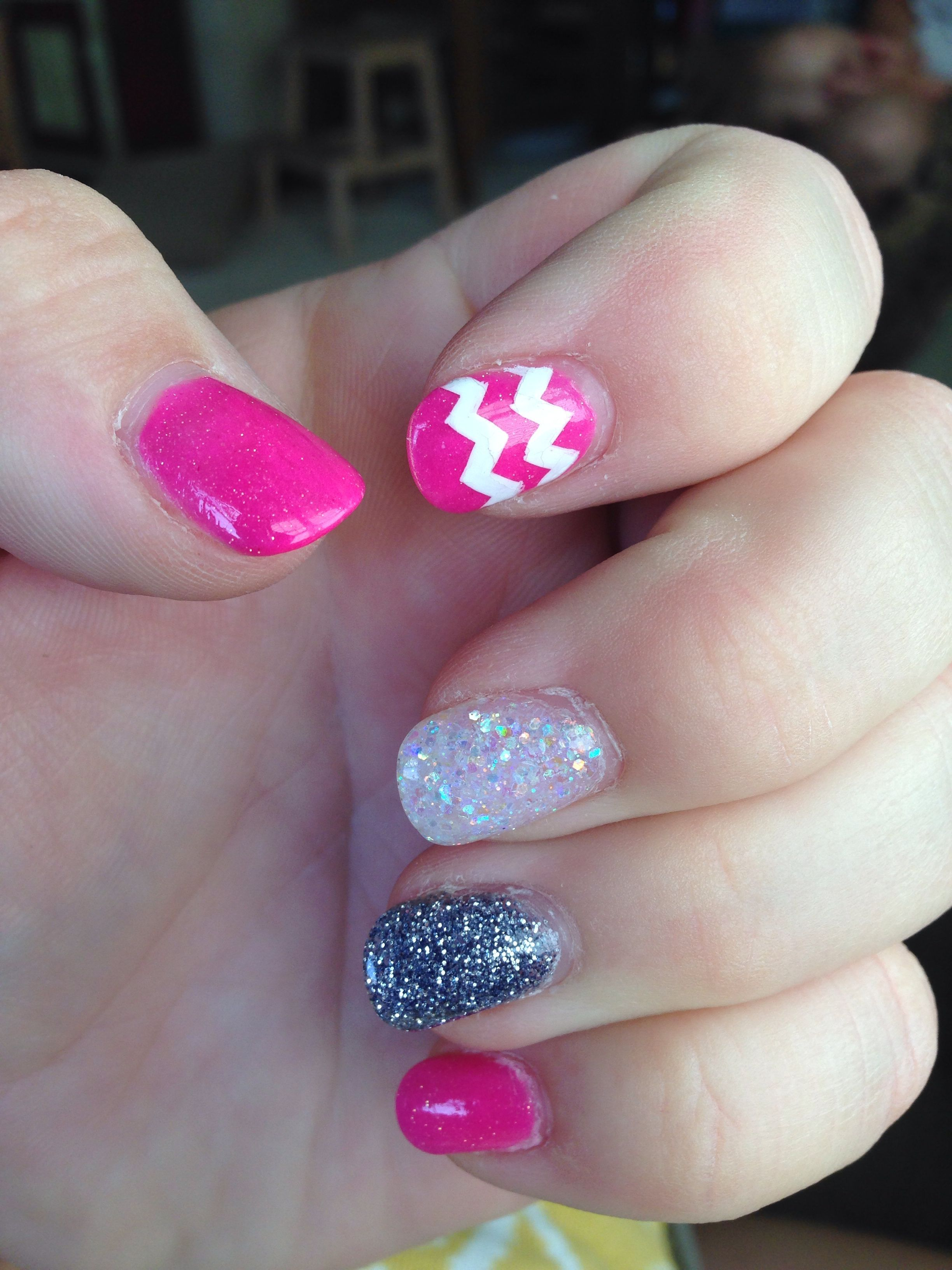 Conference Thirtyone National Sparkly Acrylic Chevron Denver White Black Nails Pink Inpink White Black Sparkly Acrylic Na Nails Acryl Thirty One