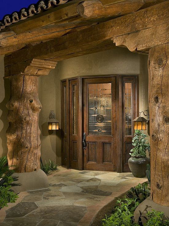Log Home Exterior Doors log home under construction interior finishes Front Entry