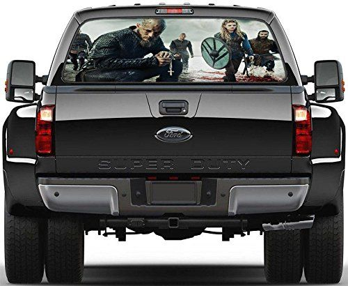 Amazoncom Ragnar Lothbrok Vikings Rear Window Decal Graphic - Back window stickers for trucksamazoncom ragnar lothbrok vikings rear window decal graphic