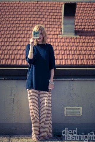 Striped pants by ASPESI