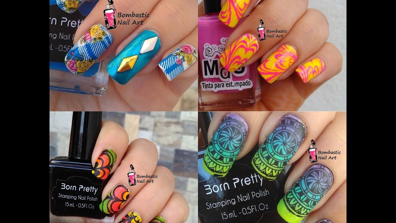 Stamping Nail Art Tutorial and Designs Compilation April 2017 ...