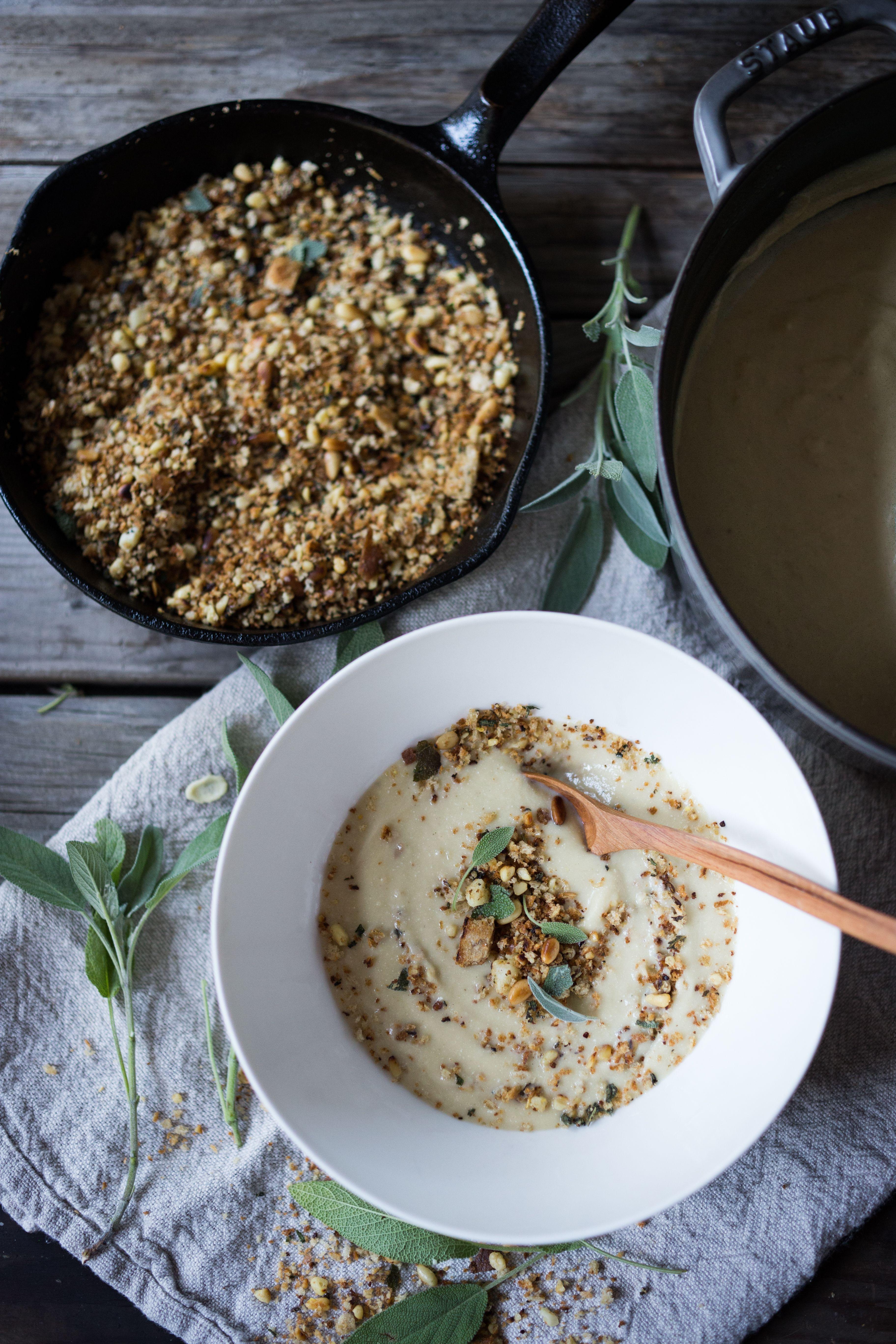 Creamy Cauliflower Soup with Garlic and Sage | Recipe ...