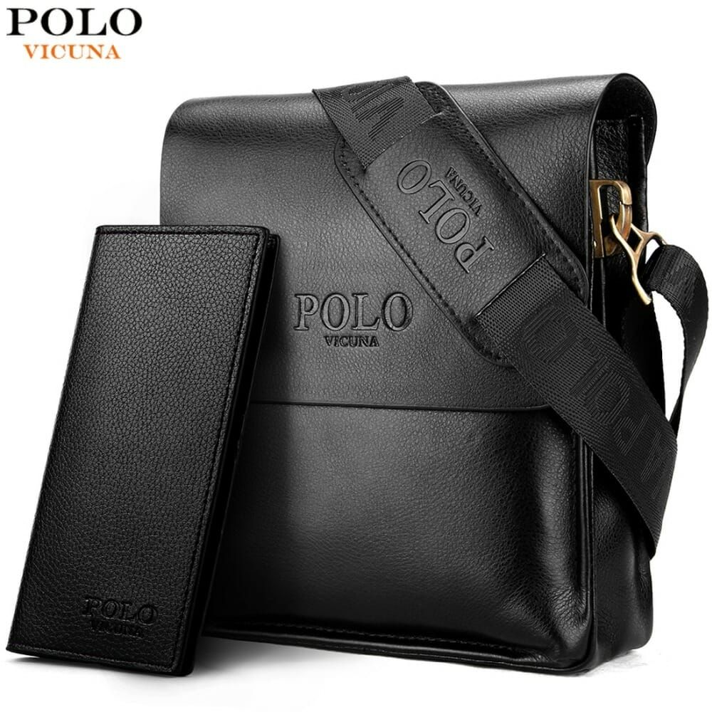 d378a908062 VICUNA POLO Leather Men's Bag Price: 21.99 & FREE Shipping  #valentinegifts#valentines
