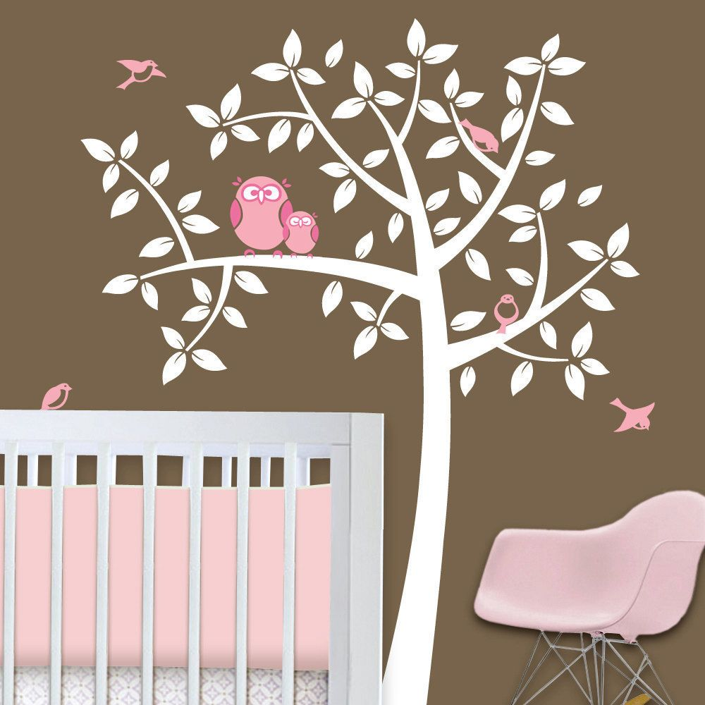 Owl Tree Baby Nursery Theme Wall Decals To Match Bedding