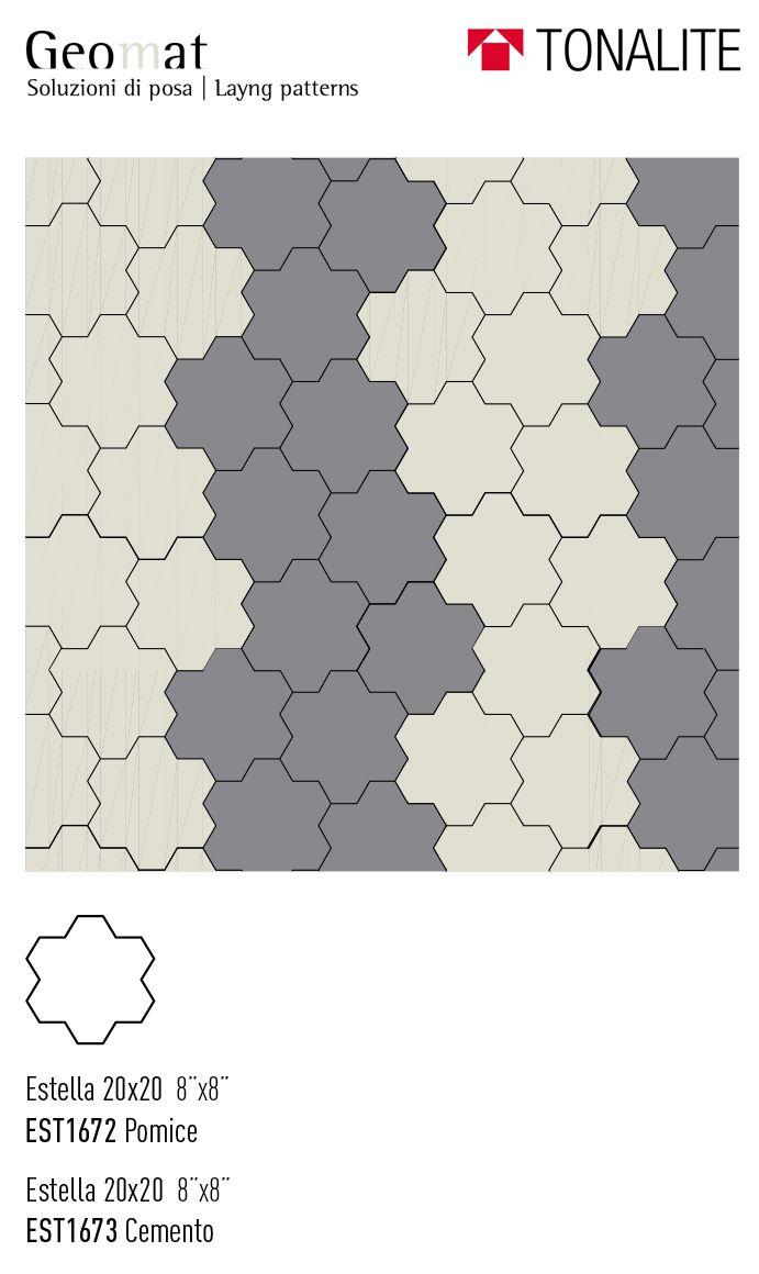 Marazzi Schemi Di Posa tonalite collezione geomat forme estella rhombus triangle