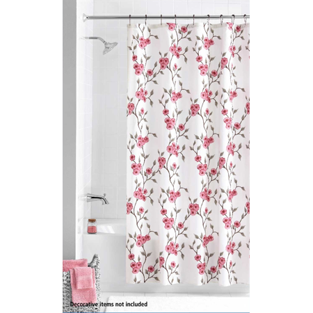 Home Floral Shower Curtains Shower Curtain Sets Fabric Shower Curtains