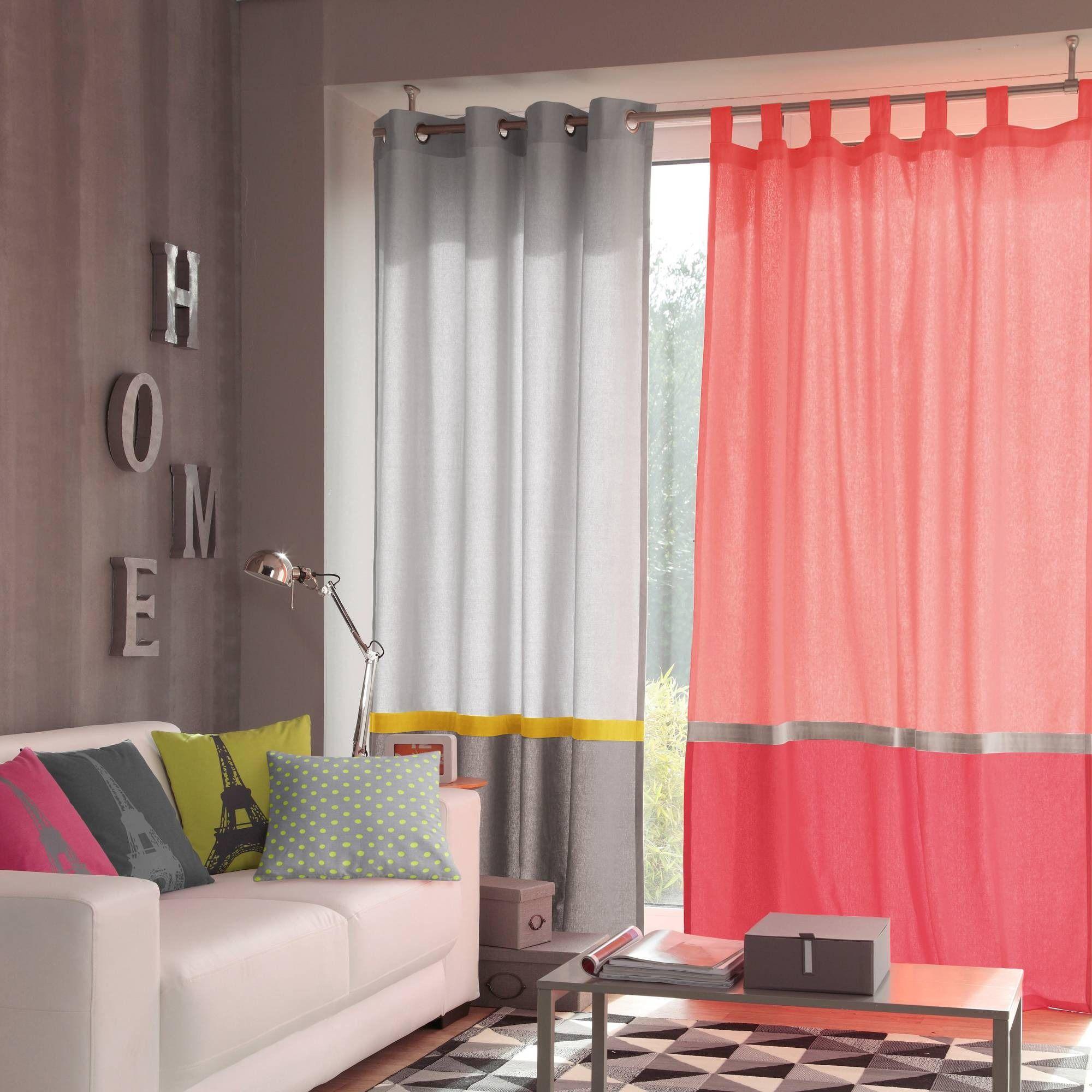 rideau pattes tricolore pur coton tectonic 3 suisses selection rideaux pinterest patte. Black Bedroom Furniture Sets. Home Design Ideas