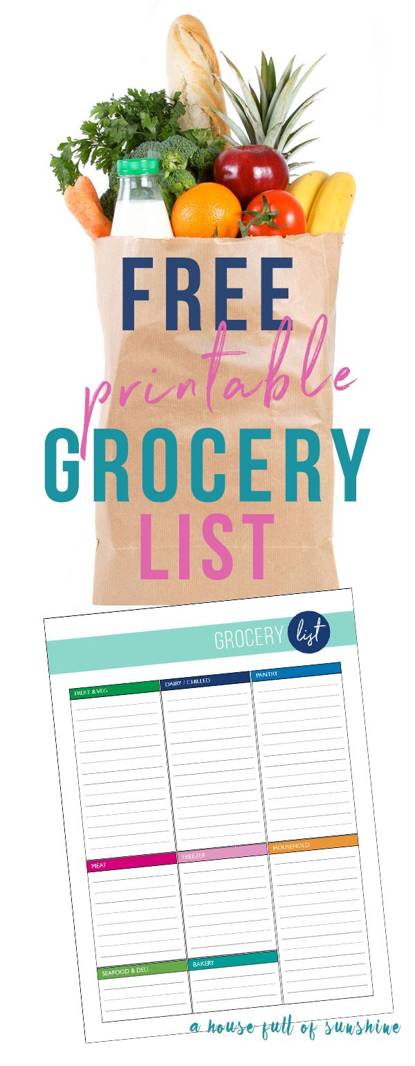 Save time when you shop with this FREE categorised printable. Makes it so easy to keep a running list of what you need! via @karenschrav
