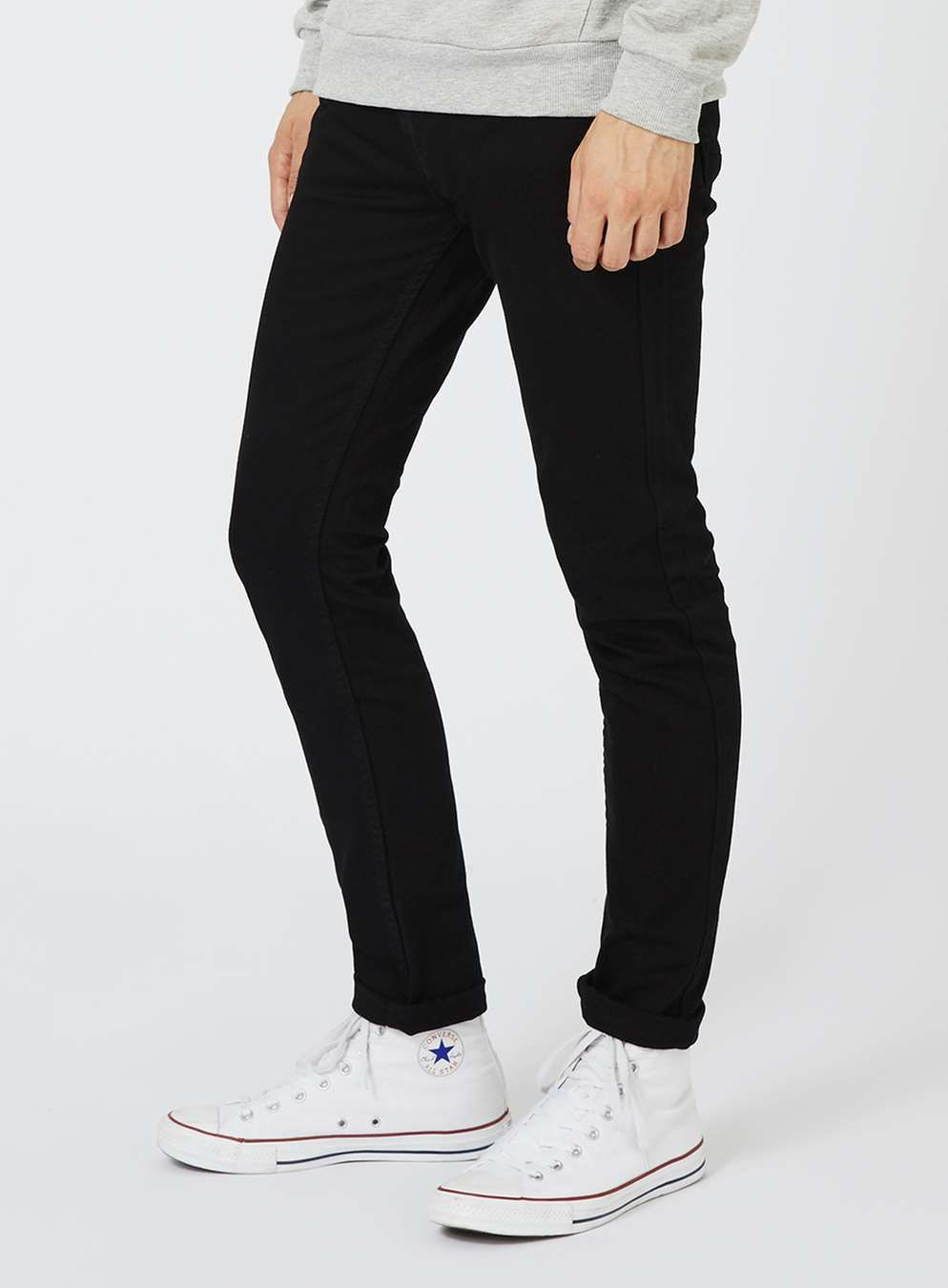 Black stretch skinny jeans with images tight jeans men