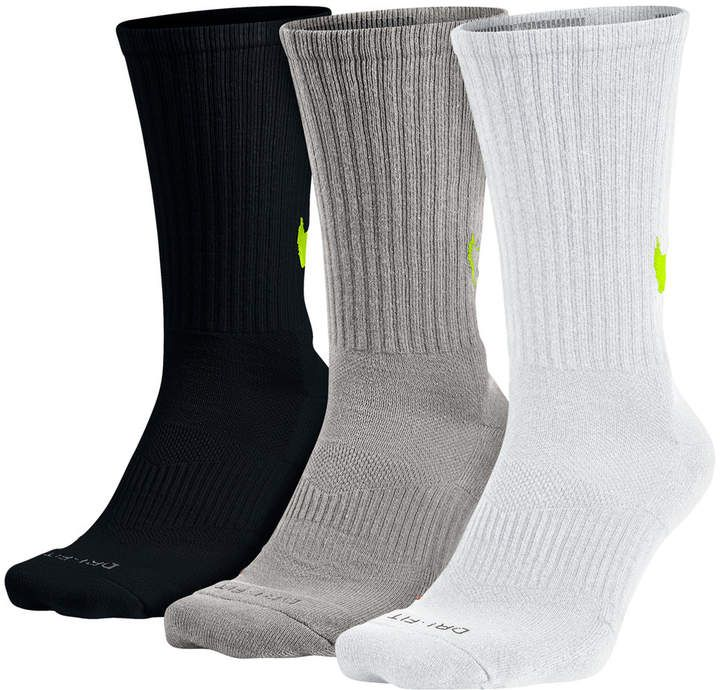 98fa927c2d565 Men's Nike 3-pack Dri-FIT Swoosh HBR Performance Crew Socks ...