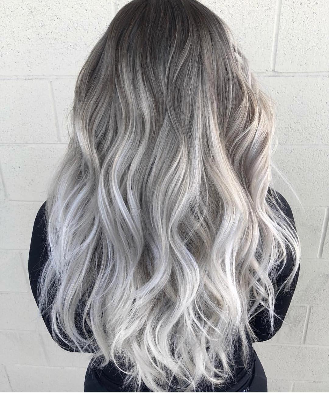 grey ombre hair graues ombre haar ombr haare haare grau f rben