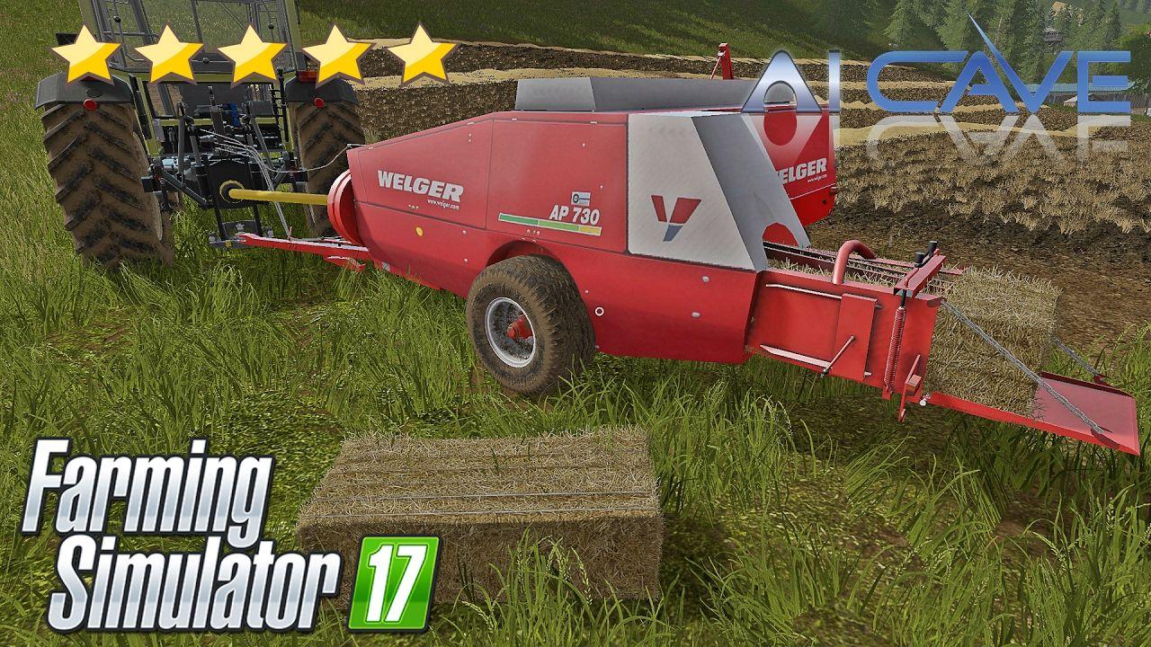 Farming Simulator 17 Baler Mods Load bales by hands WELGER AP 730