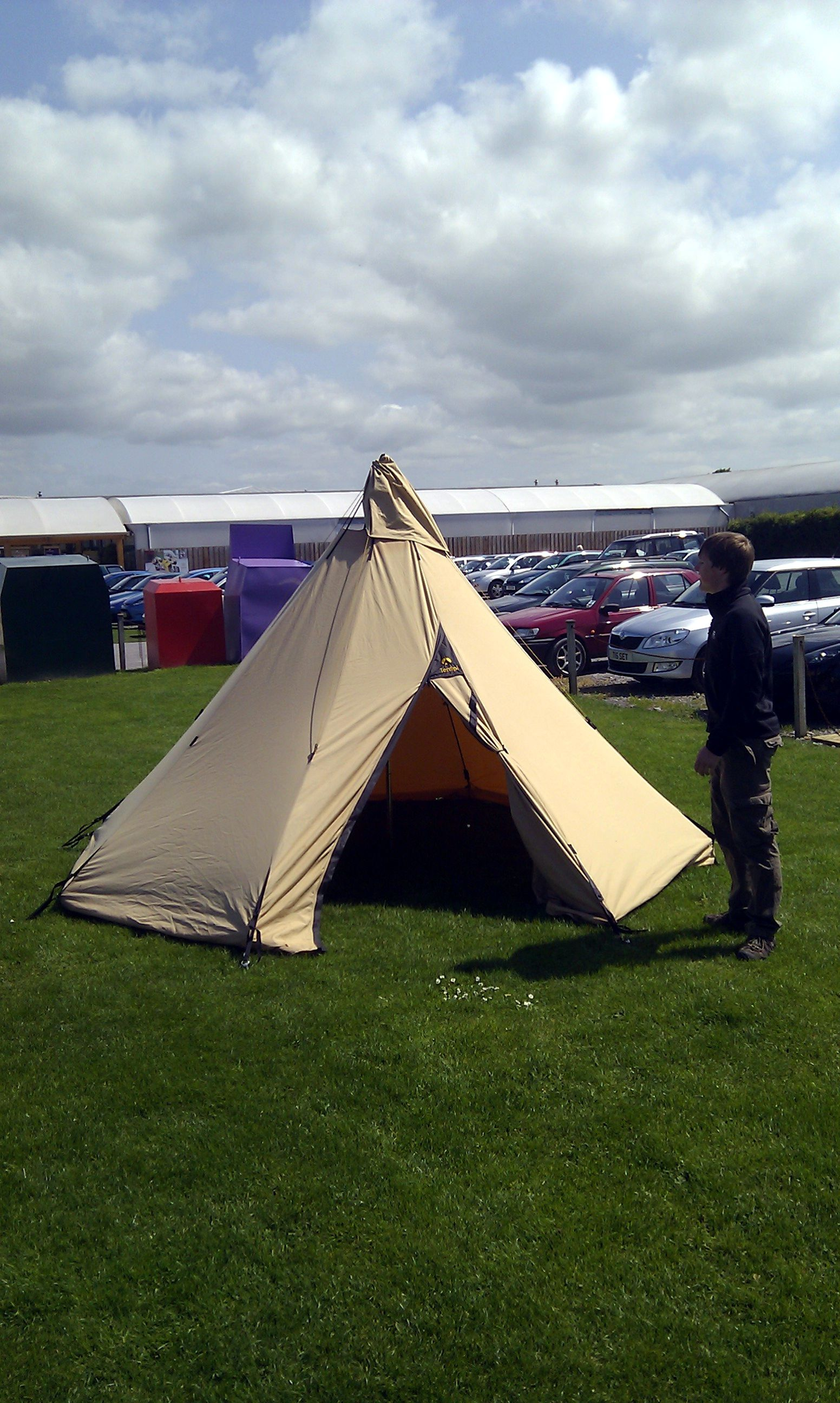 #Tentipi Onyx 5 with Matt of the Taunton Leisure team stood next to it & Tentipi Onyx 5 with Matt of the Taunton Leisure team stood next to ...