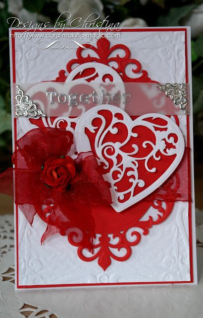 Tuesday Tutorial Vines Of Passion Flowers Ribbons And Pearls Valentines Cards Valentine Cards Handmade Valentine Day Cards
