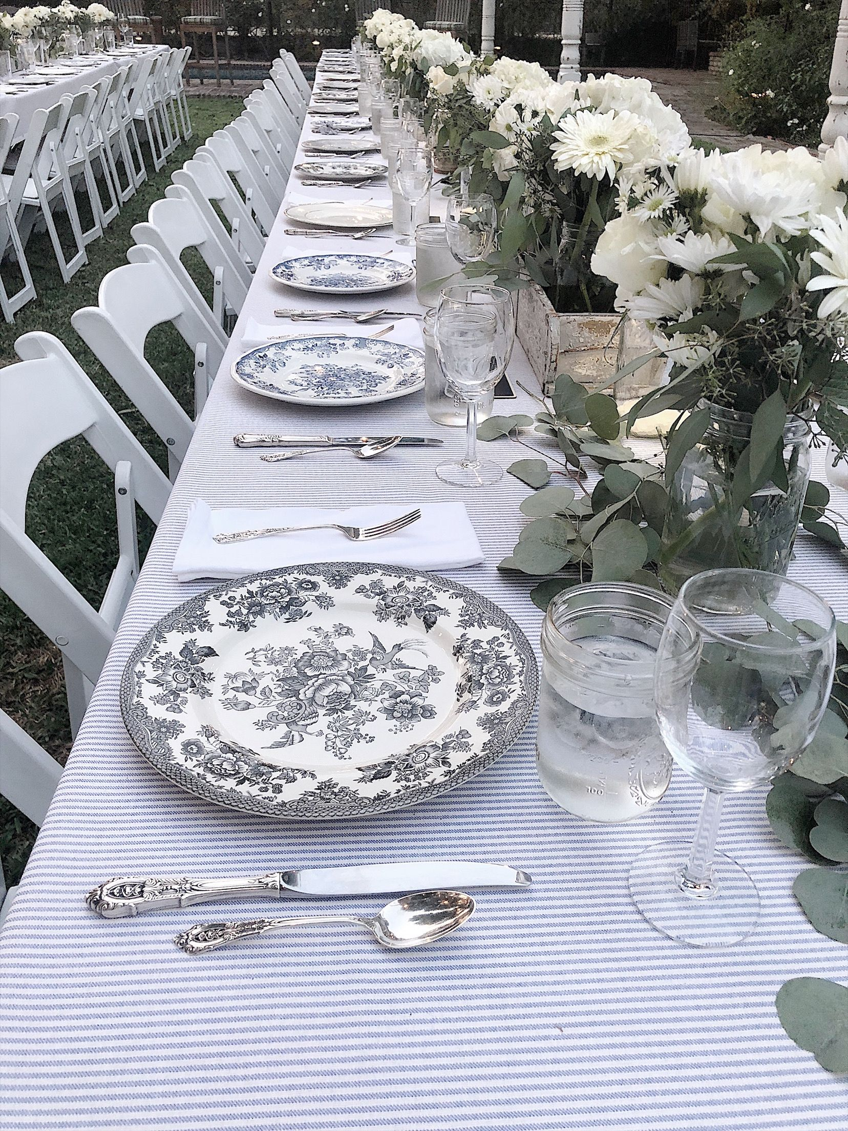 How To Plan Parties Outdoor Table Settings Tables Sterling Silver Flatware Beautiful