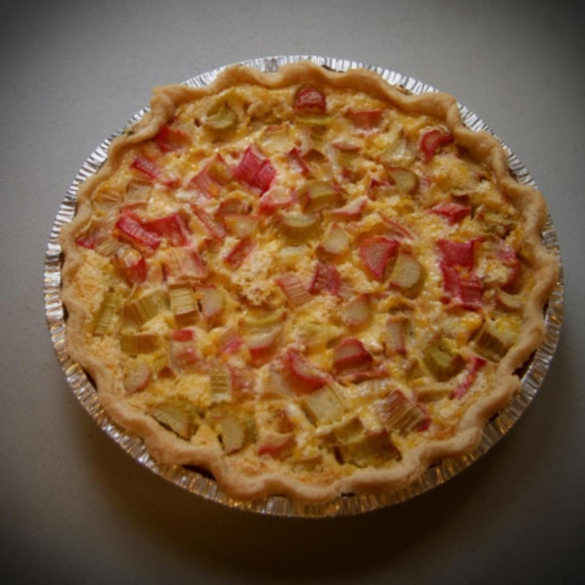 Rhubarb Custard Pie #sweetpie