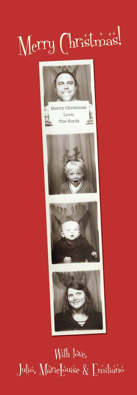 Santa Claus Photo Booth Picture Bookmark Greeting Card Ho Ho Ho Vintage Retro Christmas I Design You Print Book Mark Santa Claus Photos Funny Christmas Cards Baby Christmas Photos