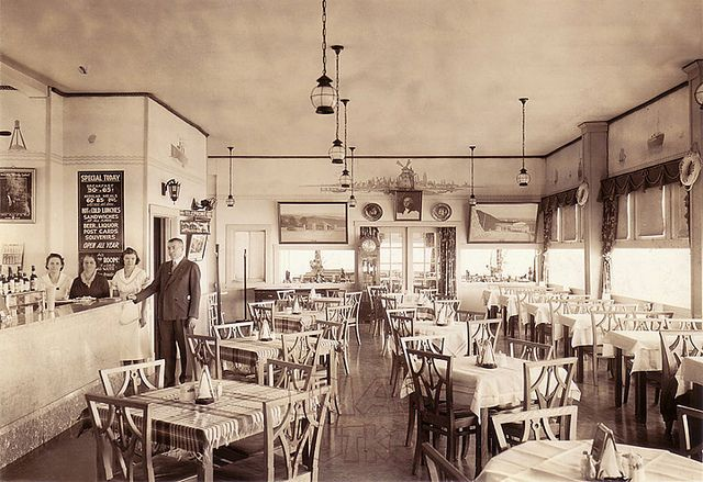 Grand View Ship Hotel Dining Room Pennsylvania History Pittsburgh City Allegheny Mountains