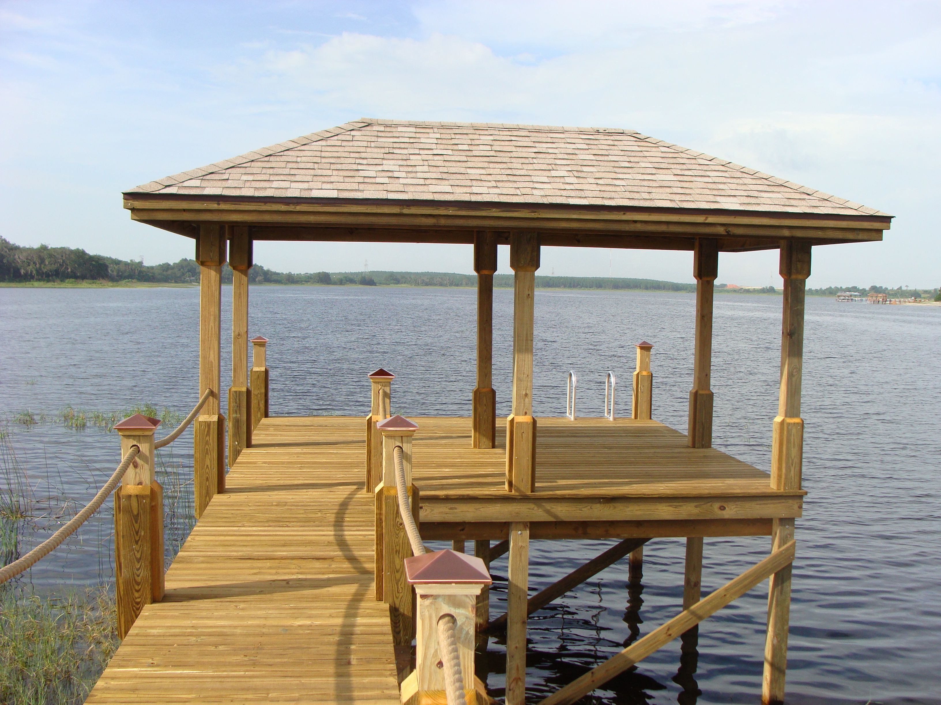 Boat Shelter Aluminum Roof : Dock shelter this roof pinterest pond