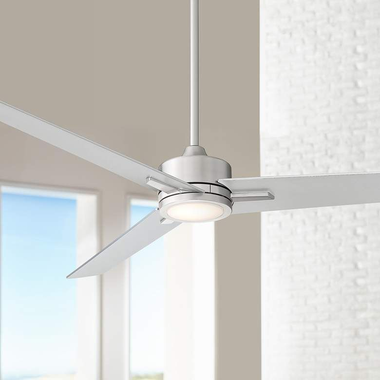 60 Monte Largo Brushed Nickel Led Ceiling Fan 64m90 Lamps