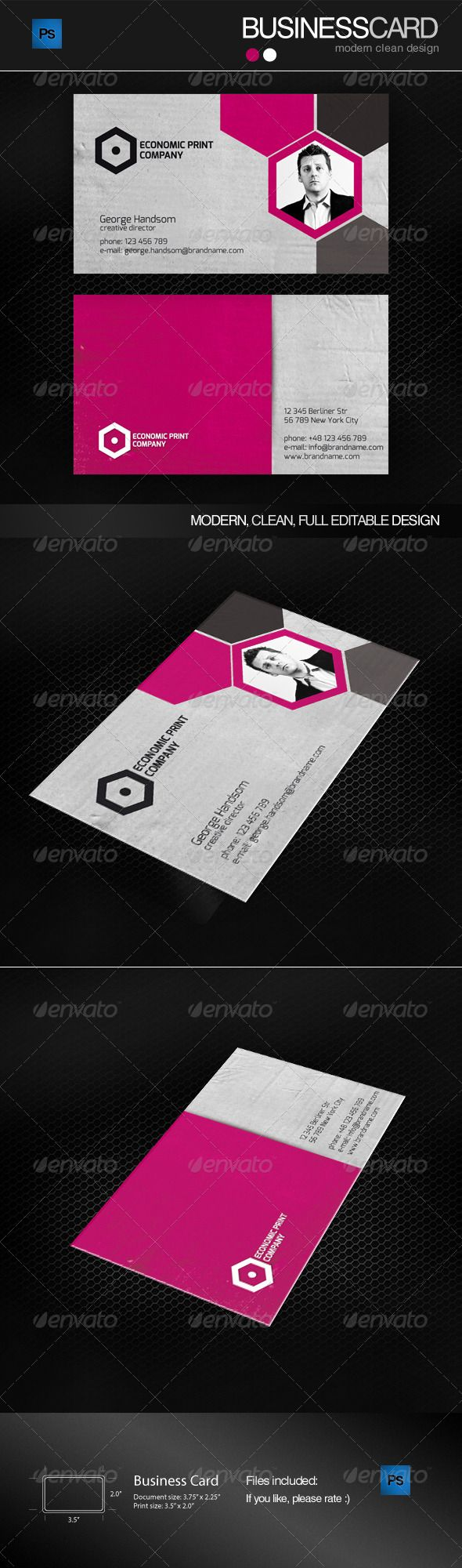 Magenta business card business cards business and card templates magenta business card reheart Gallery