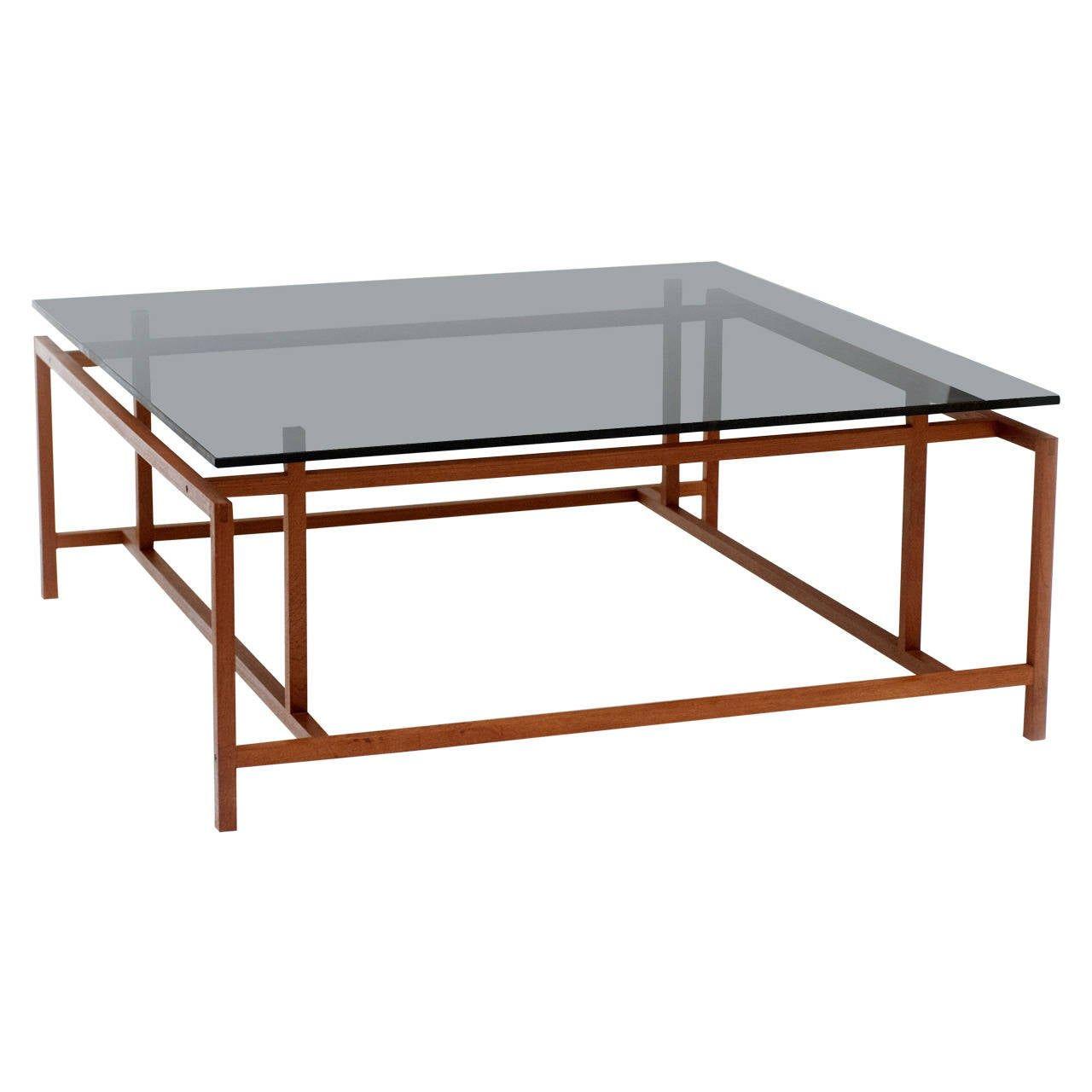 Danish modern large komfort coffee table by henning