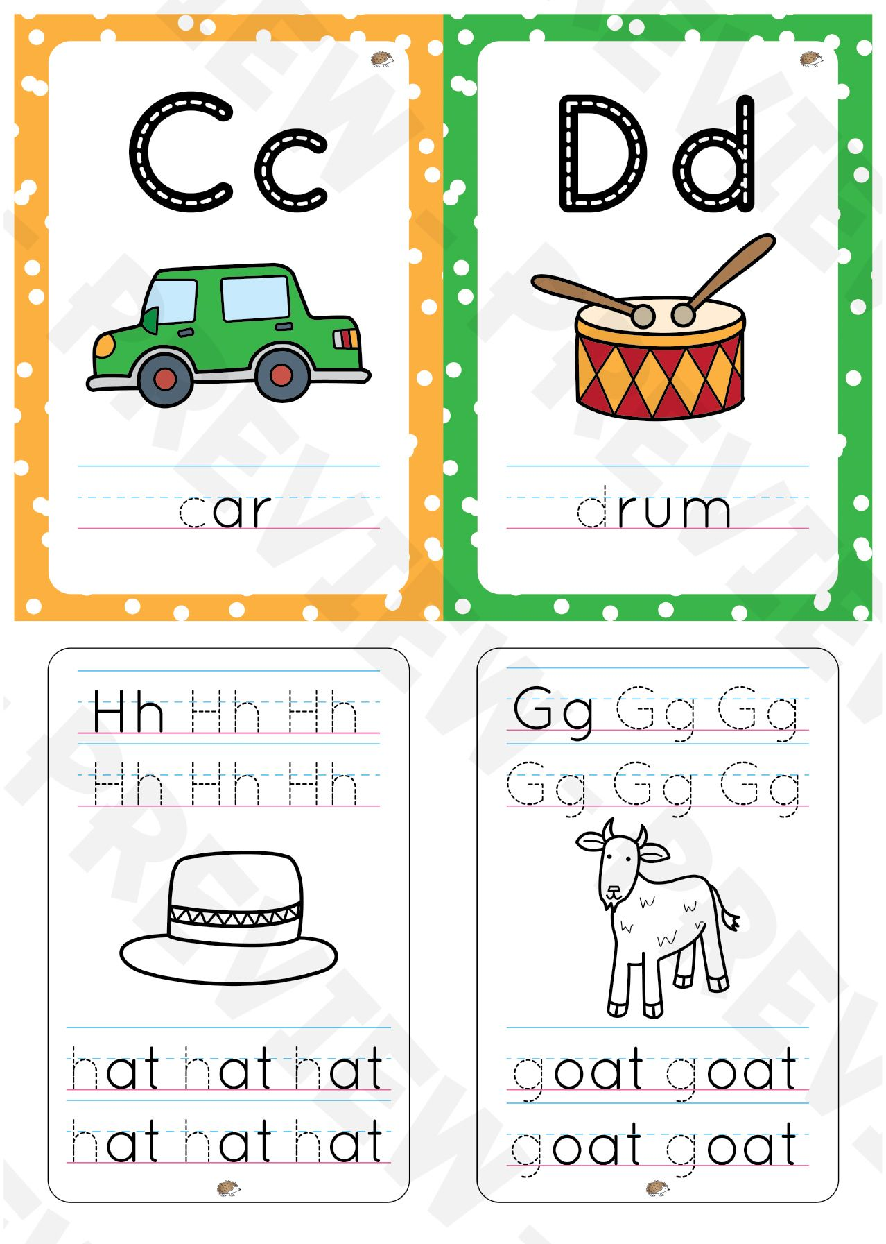 A to Z flashcards with tracing Tracing letters, Letter