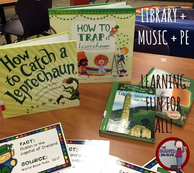 A Librarian, A Music Teacher, and A Physical Education Teacher collaborate on a fun Irish Culture unit!  Learn how you can do it too!  From the Trapped Librarian