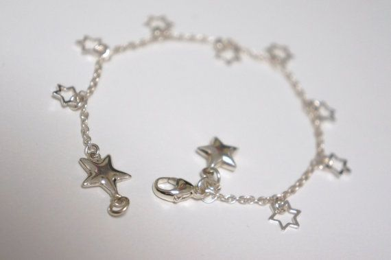 Sterling Silver Star Charm Bracelet Made in Canada by LinksLocks, $28.00