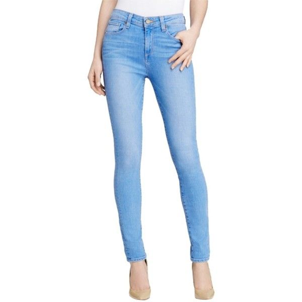 Pre-owned Paige Denim Skinny Jeans (180 CAD) ❤ liked on Polyvore featuring jeans, blue, blue skinny jeans, denim skinny jeans, paige denim, paige denim jeans and skinny leg jeans