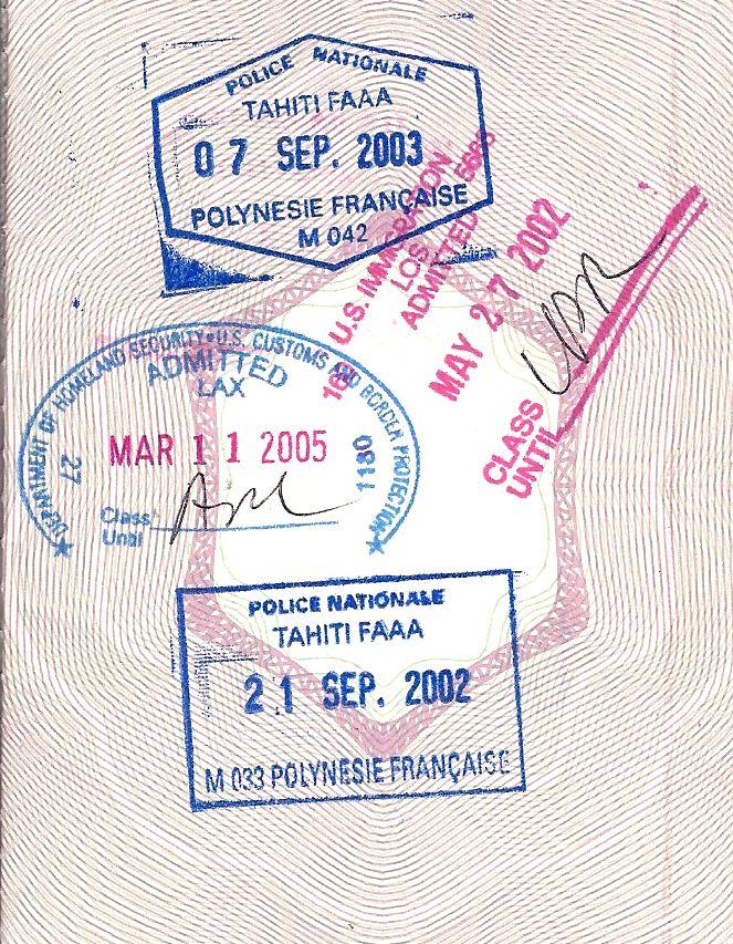 Have Passport Will Travel Tahiti Tahiti French Polynesia Tahiti Passport Stamps