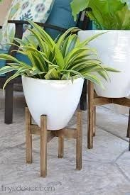 Plant Stand Indoor Diy Outdoor Stands Corner Small Ideas Wooden Tiered Mid
