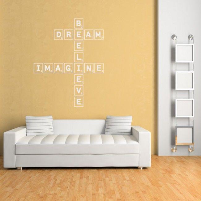 Dream imagine Believe Wall Sticker Scrabble Tiles Wall Art ...