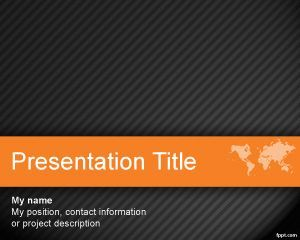 Plantilla powerpoint para plan de negocios diseo de ppt world orange powerpoint template is a free orange with dark background for effective powerpoint presentations that you can use for international business toneelgroepblik Choice Image
