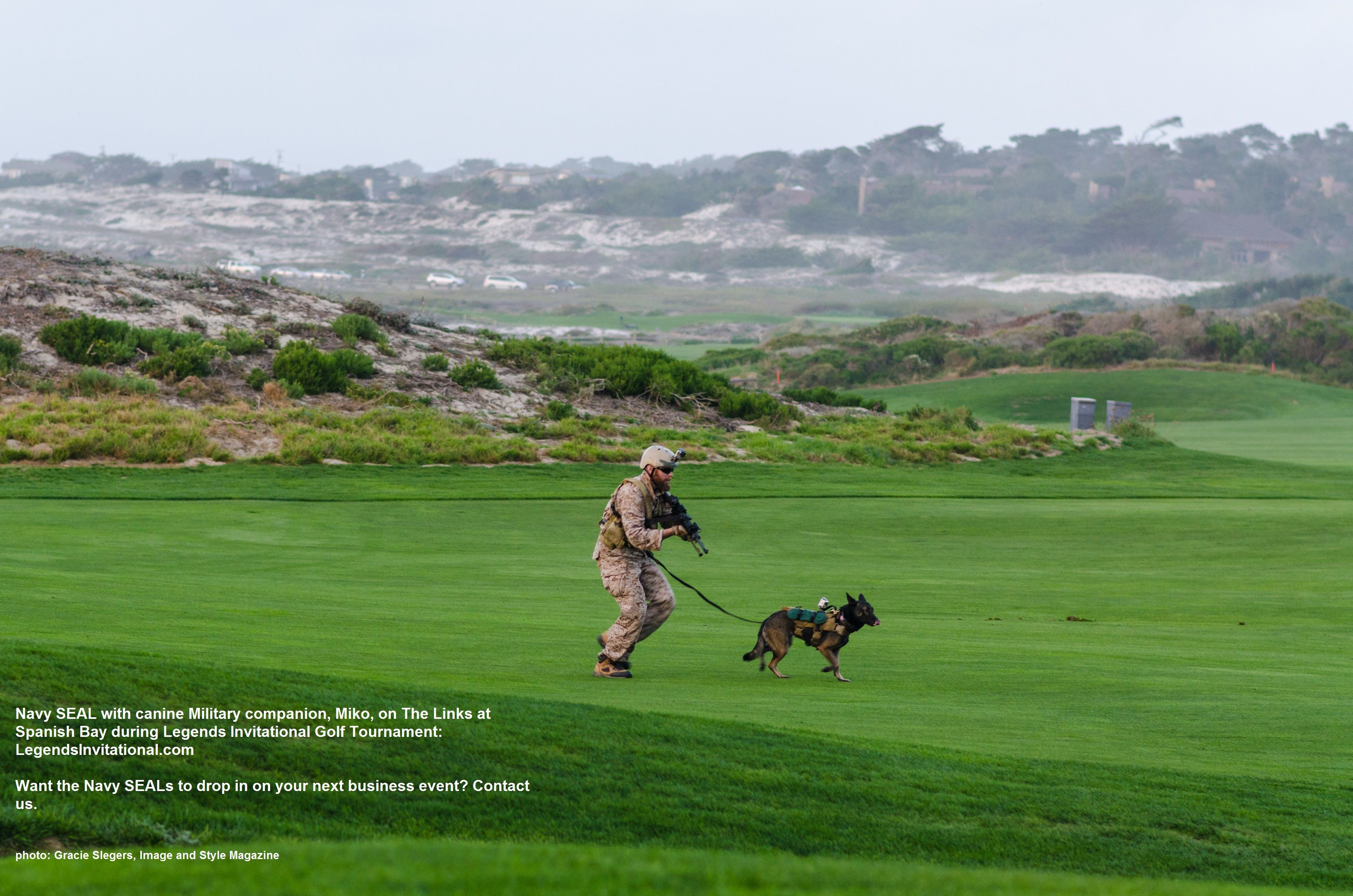 Only At Legends Invitational Can You Watch A Team Of Navy Seals Descend Upon The Links At Spanish Bay Golf Course Legendsinvitat Beach Golf Navy Seals Legend