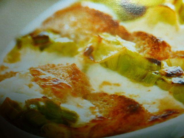 torta salata porri e crescenza