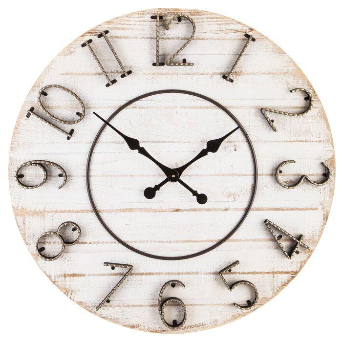 White Distressed Wood Wall Clock Hobby Lobby 1489541 Distressed Wood Wall Wood Wall Clock Diy Clock Wall