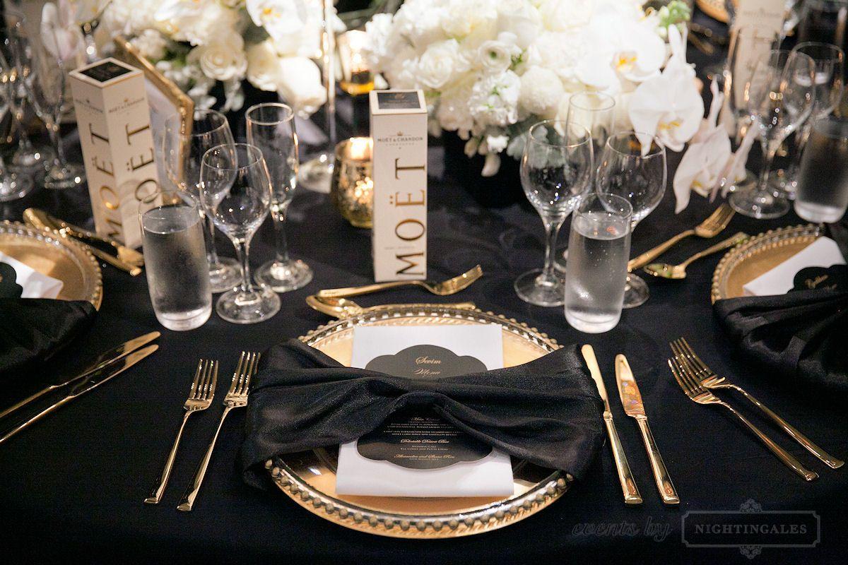 Wedding · Wedding TablesWhite WeddingsDream WeddingBottleDinner Table SettingsColourBlack GoldDinnersDinner Parties & Pin by Jessjess D-K on Dream | Pinterest | Wedding