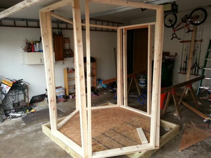Hexagon Blind Build Iowawhitetail Forums Diy Hunting