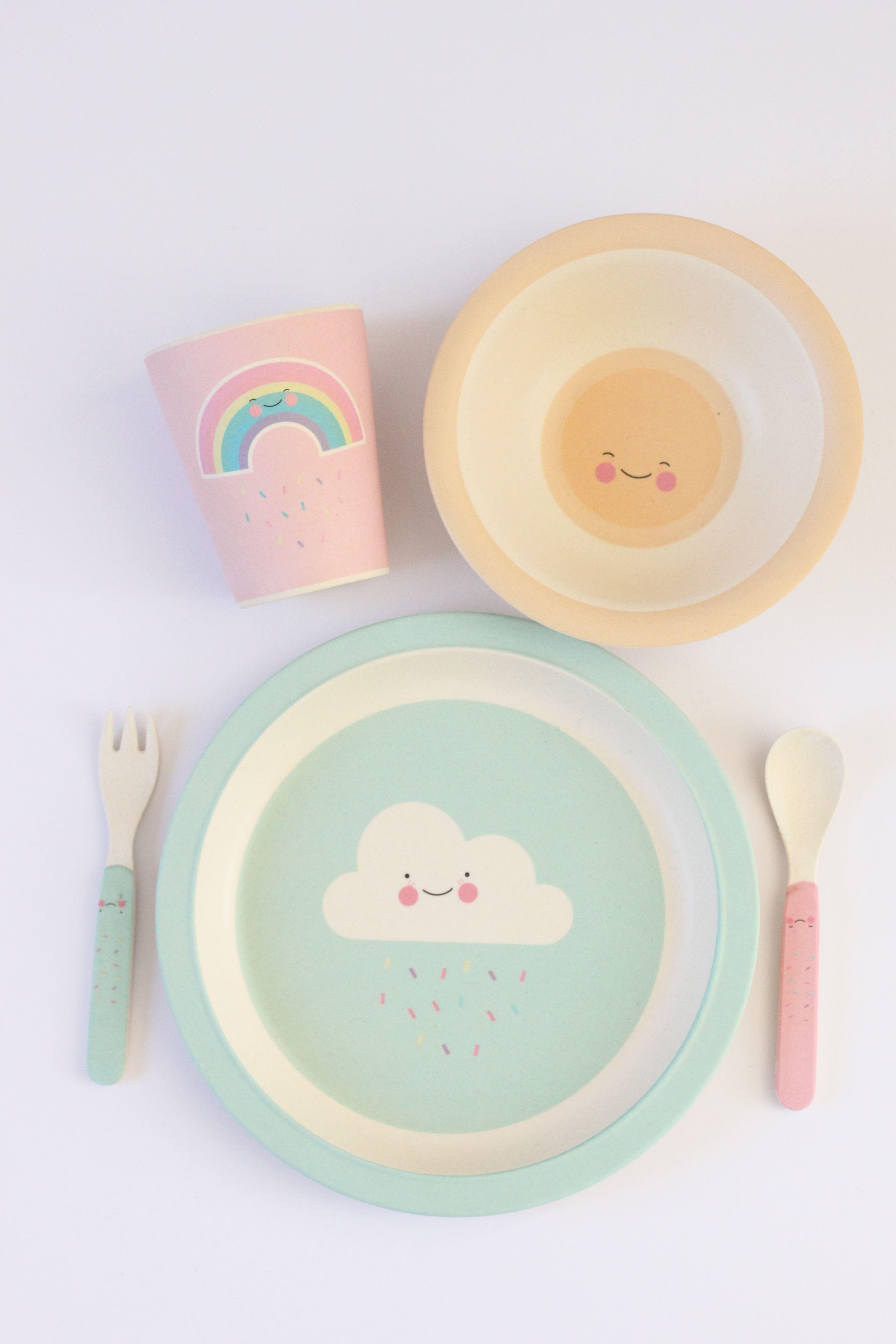 Bamboo Kids Feedingsets Eef Lillemor Kids Tableware Kids Dinnerware Kids Plates Set