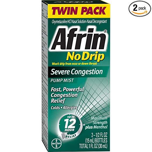 Amazon.com: Afrin No Drip Severe Congestion Pump Nasal ...