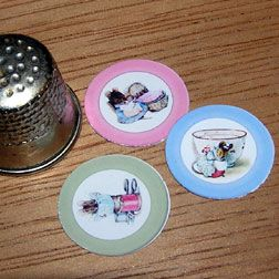 Paper Minis Tutorial - Embossing paper plates & Paper Minis Tutorial - Embossing paper plates   DM - Kitchen Plates ...