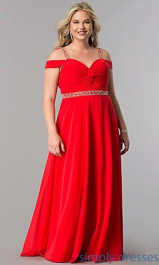 Plus Size Cold Shoulder Long Prom Dress With Corset Vestidos De