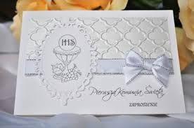 Resultado De Imagen De Zaproszenia Na Komunię Allegro Cards
