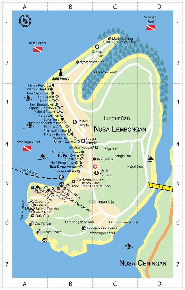 Carte Bali Nusa Lembongan.Pin By Lembongan Guide On Map Of Lembongan In 2019 Bali