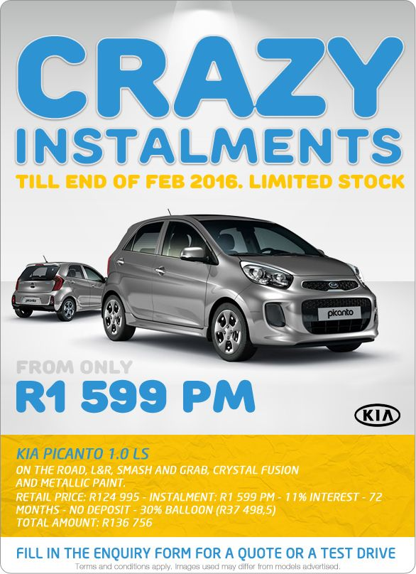 Limited Stock Kia Picanto 1 0 Ls Now From Only R1 599pm Retail